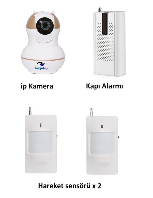 AngelEye KS-512 HD Wifi Ev ve Bebek iP Kamera 4in1 Full Set
