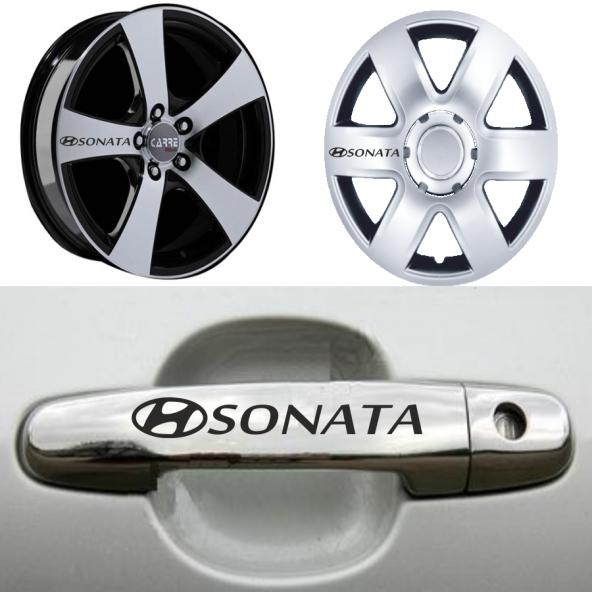 Hyundai Sonata Kapı Kolu ve Jantlara 10lu Sticker Set