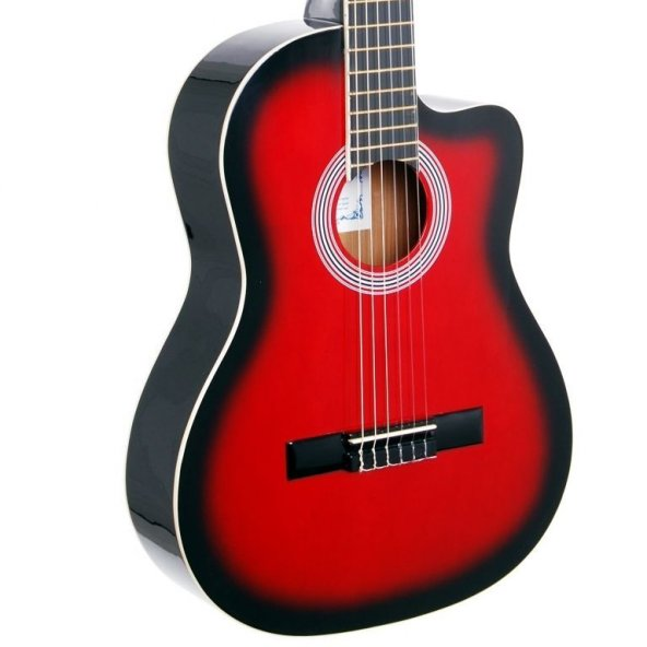 Rodriguez RCC550RB Kırmızıburst Gitar Klasik