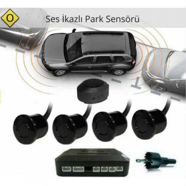 Park Sensörü Buzzerli SİYAH Bip Ses İkazlı 4 Gözlü ÜCRETSİZ KARGO