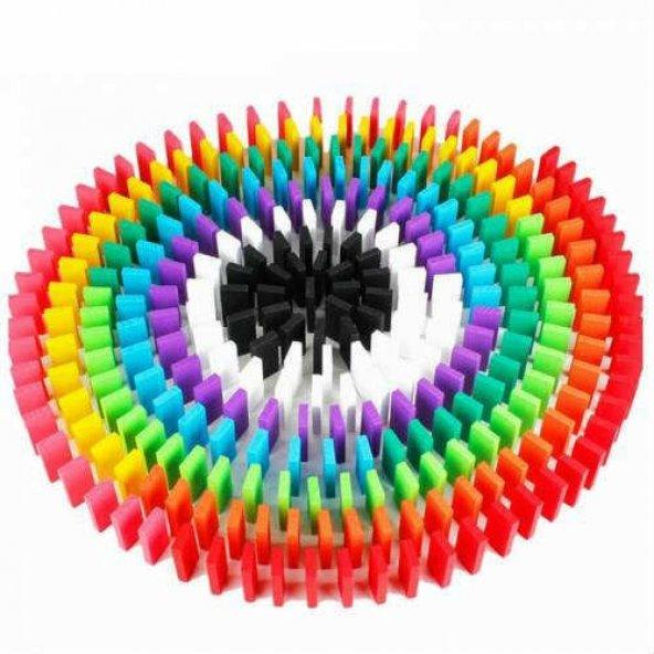 Ahşap Domino Taşları 1000 Parça Renkli Eğitici Domino Oyunu Ahşap domino oyunu Çocuk Ahşap Oyuncak