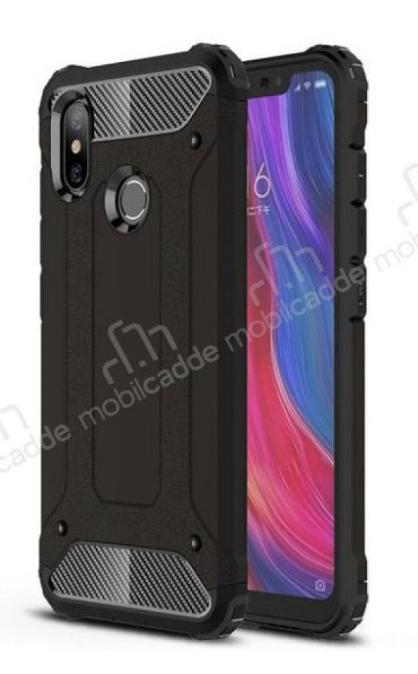 Tough Power Xiaomi Mi A2 Ultra Koruma Siyah Kılıf