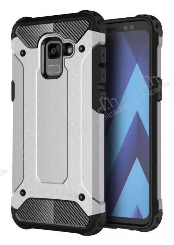 Tough Power Samsung Galaxy A6 2018 Ultra Koruma Silver Kılıf