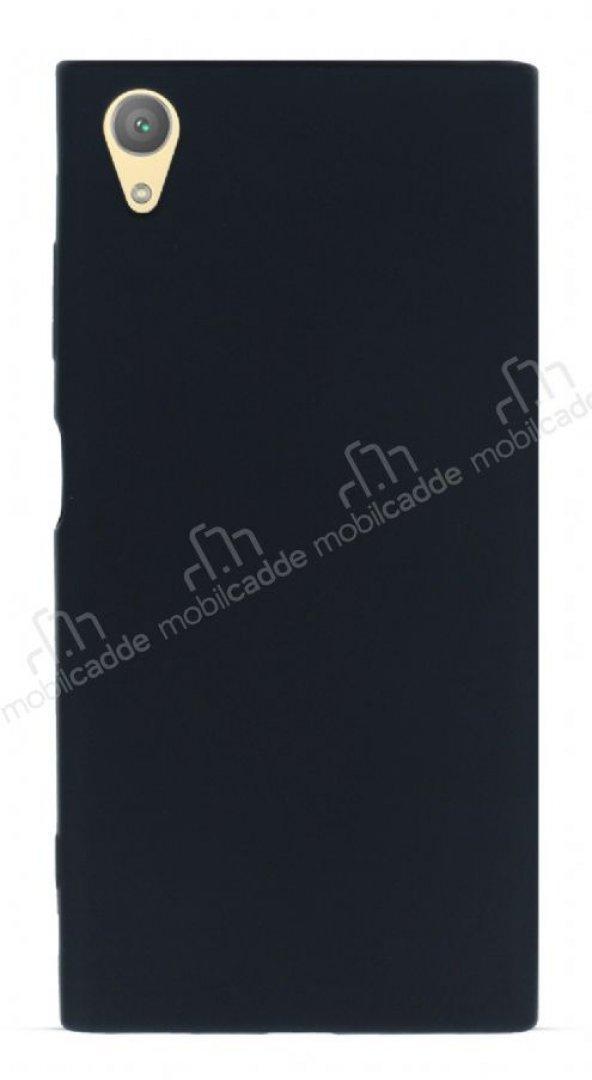Sony Xperia XA1 Plus Mat Siyah Silikon Kılıf