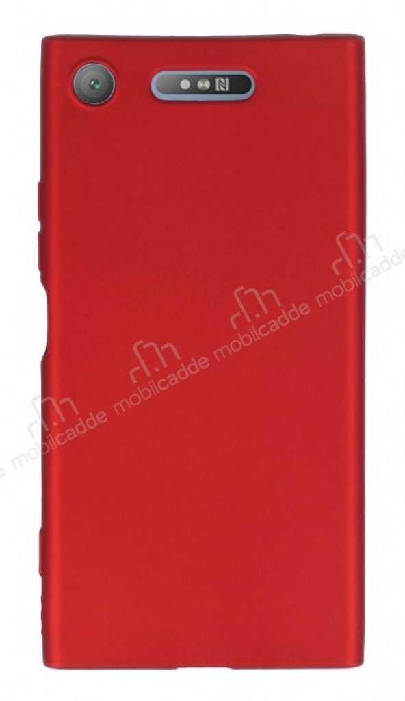 Sony Xperia XZ1 Mat Kırmızı Silikon Kılıf
