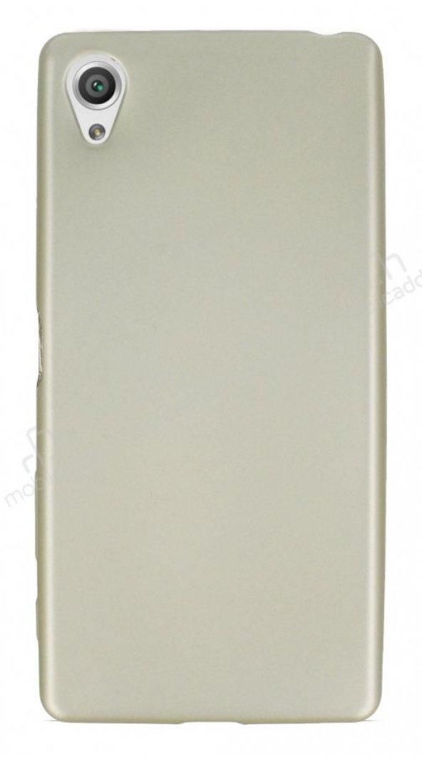 Sony Xperia XA Mat Gold Silikon Kılıf
