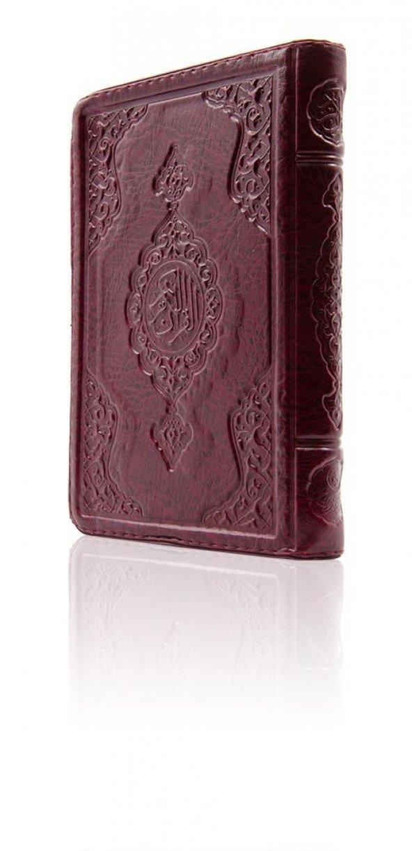 Çanta Boy Kuran-ı Kerim (Bordo Renk, Kılıflı, Mühürlü)