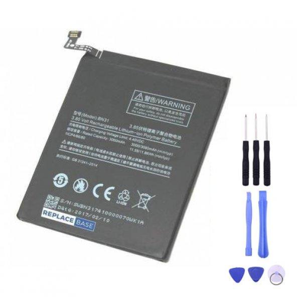Xiaomi Mi 5X Batarya Pil BN31 + Tamir Seti