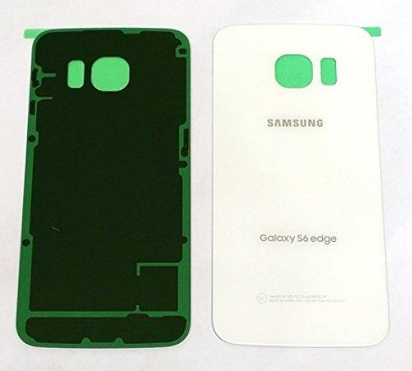 Samsung Galaxy S6 Arka Batarya Pil Kapağı-Beyaz