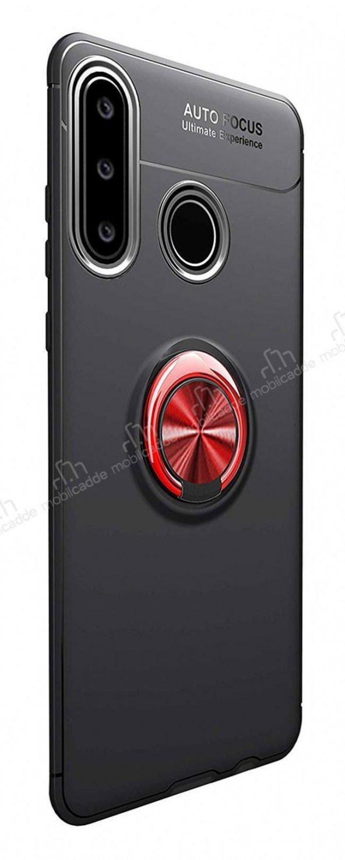 Eiroo Huawei P30 Lite Standlı Kırmızı-Siyah Silikon Kılıf