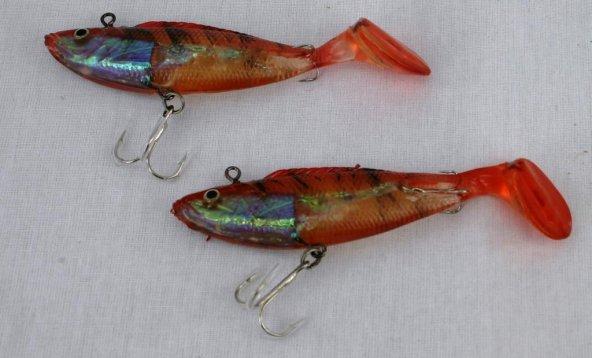 13100 10 cm İki İğneli Balık Renk:F013