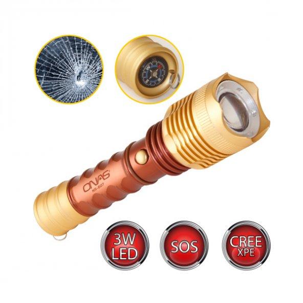 Onas Ns-607 Şarjlı El Feneri Kahve