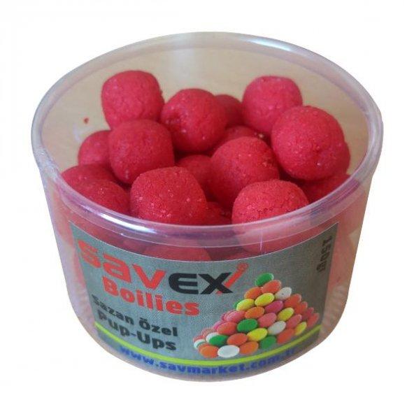 Savex Yüzen Boilie 16 mm Pembe-Karışık Meyve