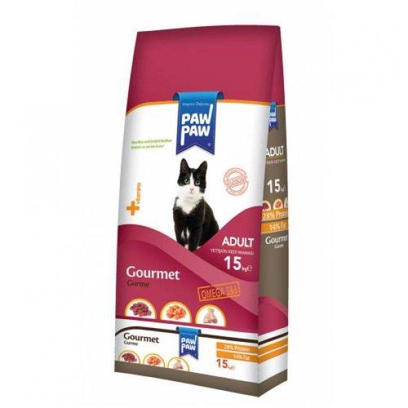 Paw Paw (Pawpaw) Gourmet Gurme Yetişkin Kedi Maması 15 Kg