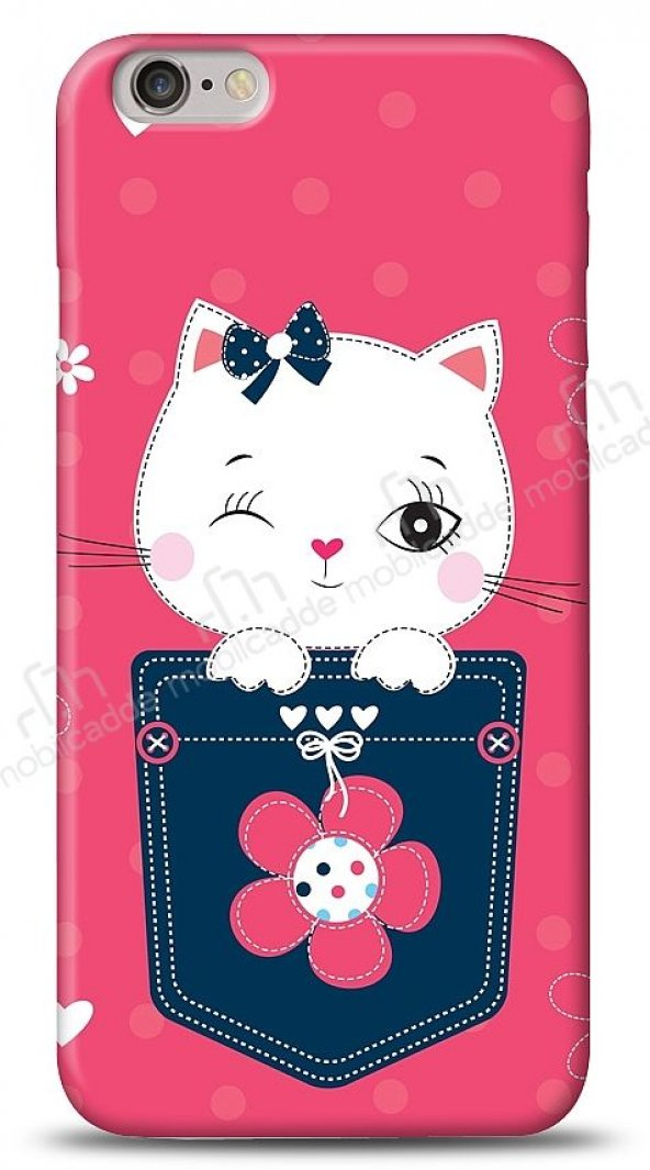 Dafoni iPhone 6 Pink Cat Kılıf