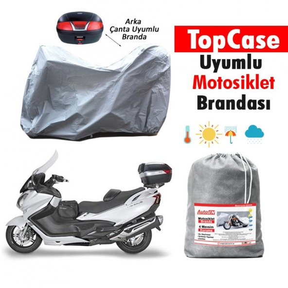 Honda Fizy 125 Arka Çanta Uyumlu Motosiklet Brandası 021A075