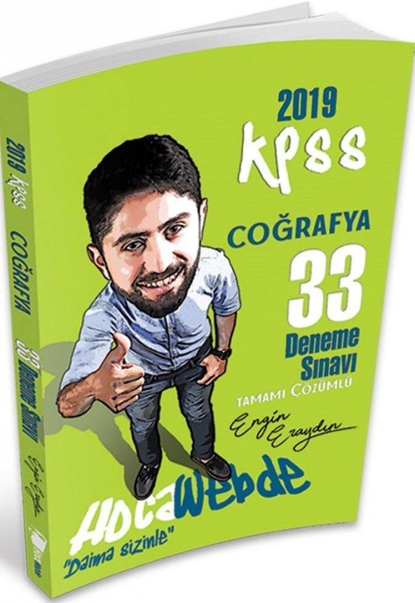 Hocawebde Yayınları 2019 KPSS Coğrafya 33 Deneme Sınavı