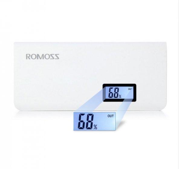 Romoss Sense 4 Plus 10400 Powerbank Taşınabilir Şarj Cihazı + Usb Kablo