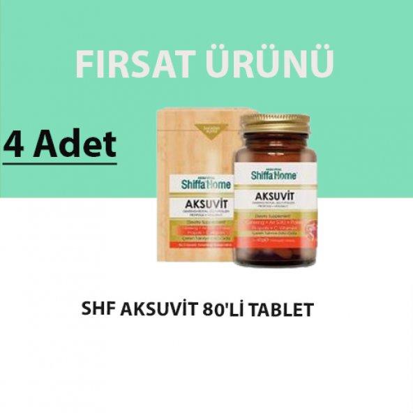 Shiffa Home Aksuvit Ginseng 80li Tablet (4 Adet)