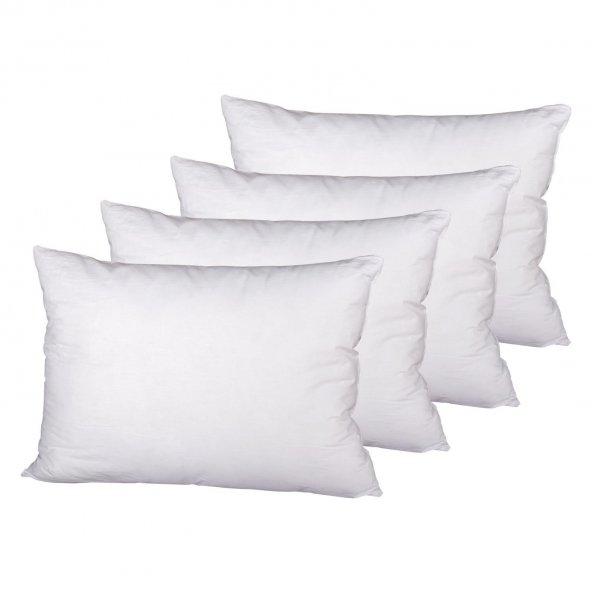 Eçeyizci Lüks Yastık 50x70 Cm Beyaz 4 LÜ
