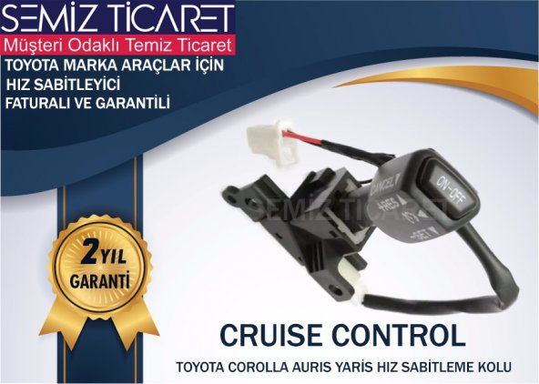 ESEMİZ Toyota YARİS Hız Sabtileme Kolu(Cruise Contol)-KAPAK DAHİL SET-2 YIL GARANTİLİ-ADINIZA FATURALI