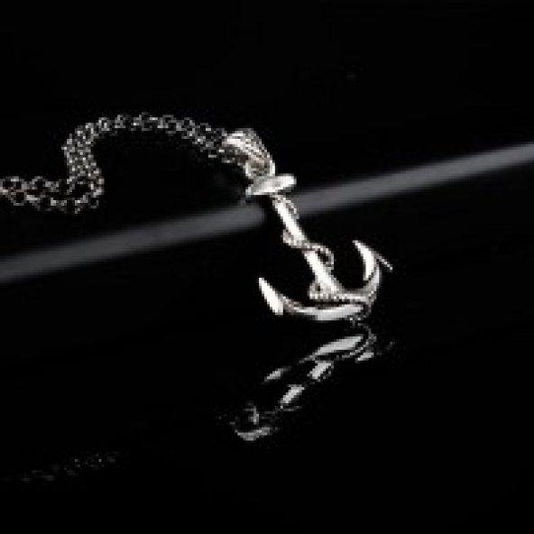 925 Ayar Gümüş Çapa Kolye