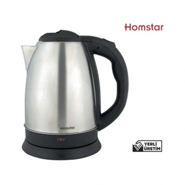 Homstar K 4000 Çelik Kettle Su Isıtıcı Gizli Rezistans