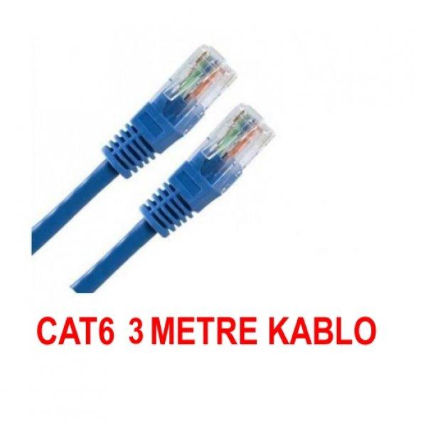 3 Metre Cat6 internet Ethernet Kablosu Fabrikasyon Rj45 BST-2091p