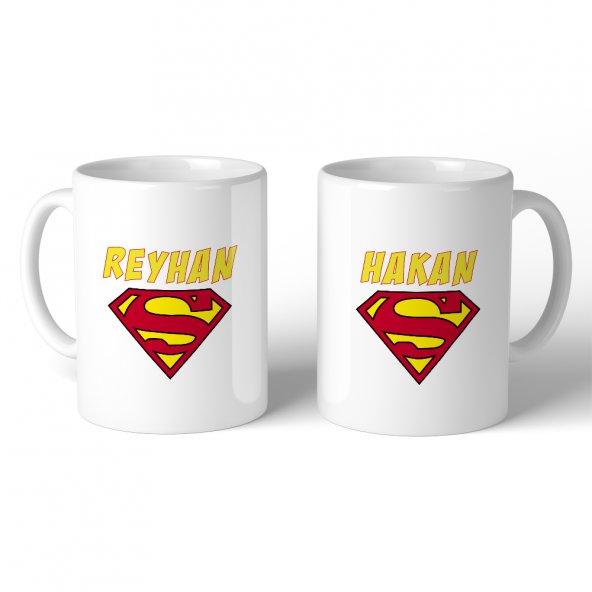 FPM1225 Sevgililer Gününe Özel Süperman Hediye Kupa Bardak