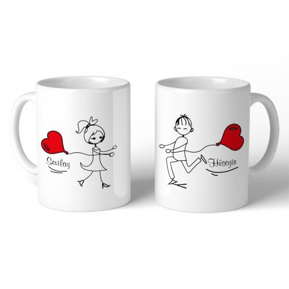 FPM1213 Sevgiliye Özel Kavuşan Aşıklar Hediye Kupa Bardak
