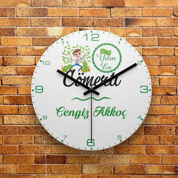 FMC1334 Kişiye Özel Yılın En Cömerti MDF Duvar Saati 39cm