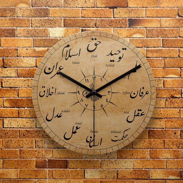 FMC1246 Tasarımlı MDF AHŞAP Duvar Saati 39cm