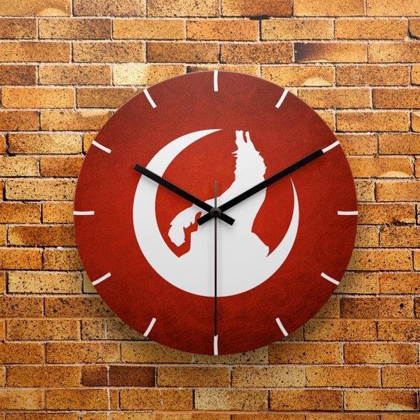 FMC1208 Tasarımlı MDF AHŞAP Duvar Saati 39cm