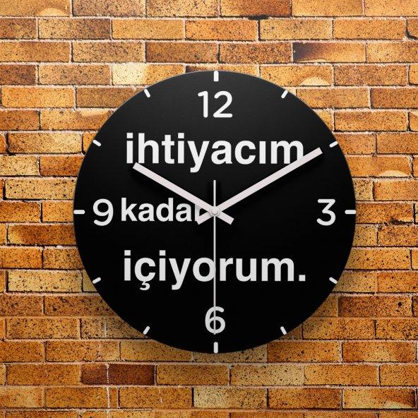 FMC1205 Tasarımlı MDF AHŞAP Duvar Saati 39cm
