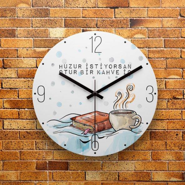 FMC1144 Tasarımlı MDF AHŞAP Duvar Saati 39cm