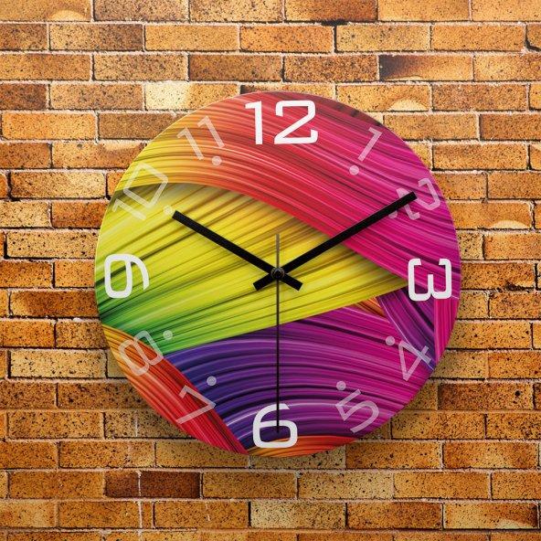 FMC1095 Tasarımlı MDF AHŞAP Duvar Saati 39cm