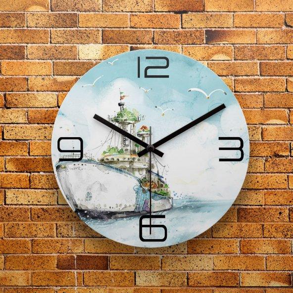 FMC1051 Tasarımlı MDF AHŞAP Duvar Saati 39cm