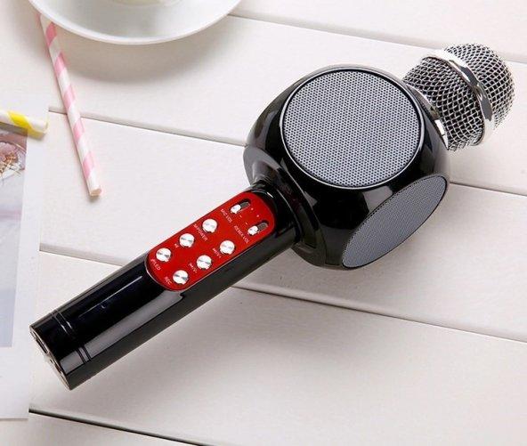 KARAOKE MİKROFON LED IŞIKLI BLUETOOTH HOPARLÖR MP3 MiKROFON KARAOKE SONIA SX-777