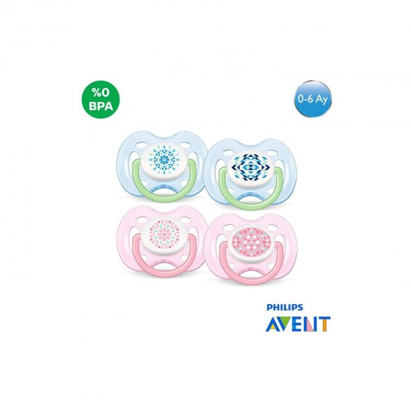AVENT Emzik SCF180/23 Free Flow Desenli  0-6 Ay 2li