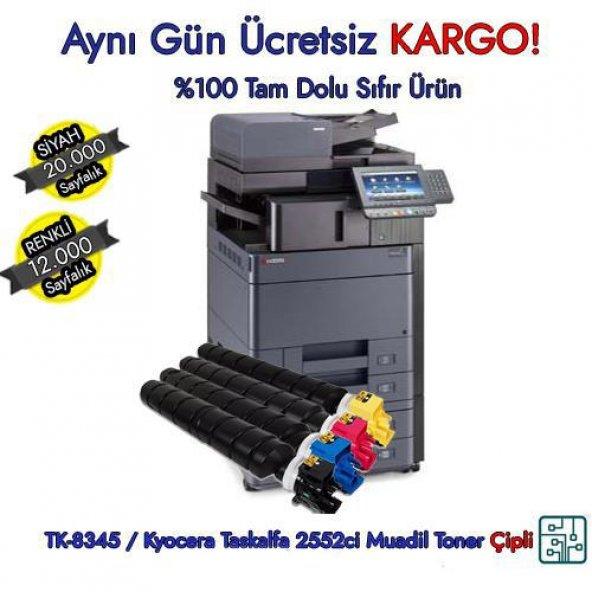 TK-8345 / Kyocera Taskalfa 2552ci CMYK Muadil Toner