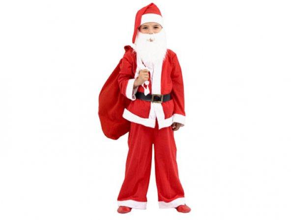 Yılbaşı Özel 9-12 Yaş Erkek Çocuk Noel Baba Elbisesi