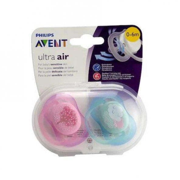 AVENT Emzik SCF343/20 Ultra Air Kız Desenli 0-6 AY 2li