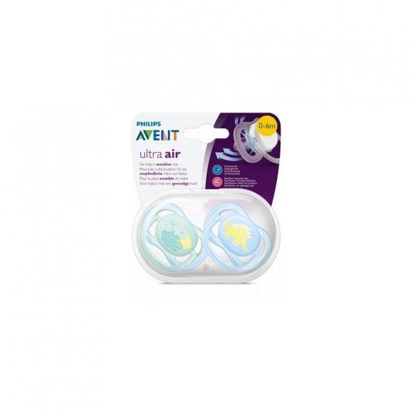 AVENT Emzik SCF344/20 Ultra Air Erkek Desenli 0-6 AY 2li
