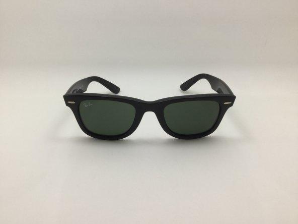 RayBan 2140 WAYFARER BLACK GREEN LENSES
