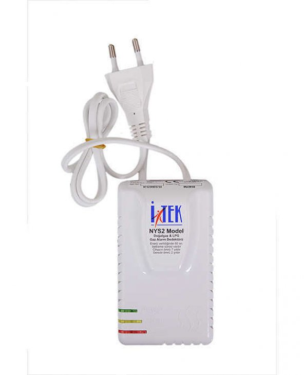 İtek NYS2 NYS-2 ORJİNAL Gaz Alarm Dedektörü (DOĞALGAZ-LPG)