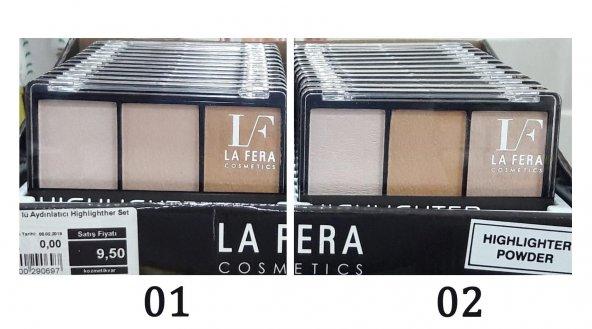 La Fera 3 lü Aydınlatıcı Highlighther Set