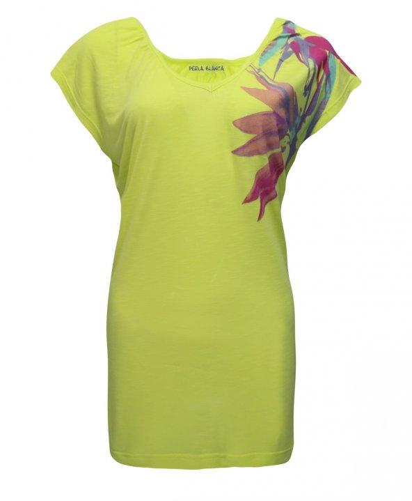 Janset Moda PB-T2012 Yeşil Bayan Bluz