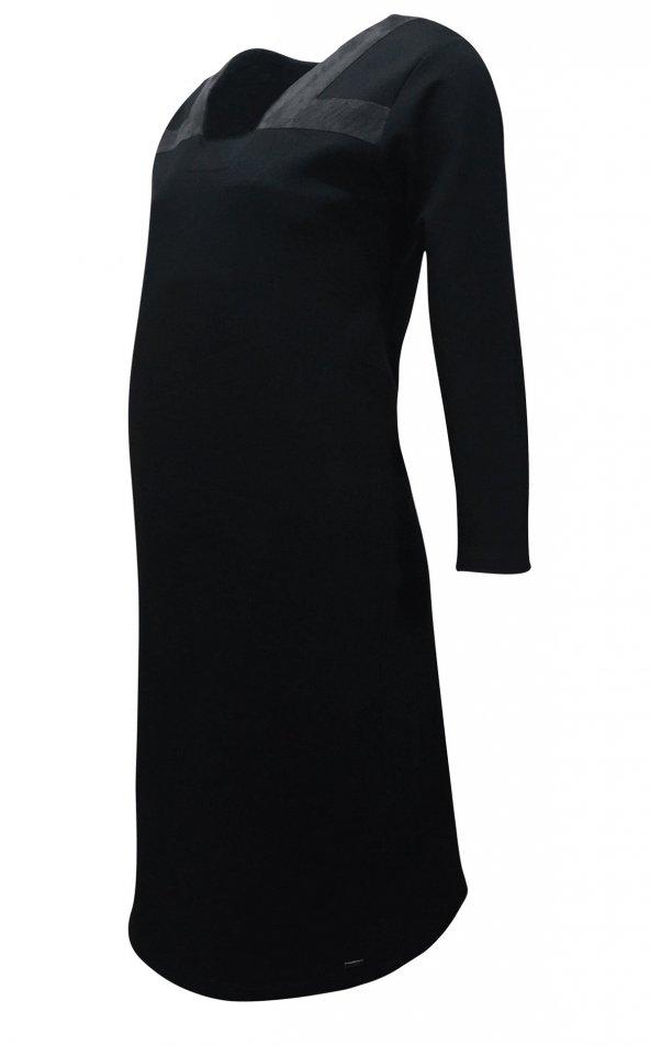 Janset Moda PB-AA7014 Hamile Siyah Elbise