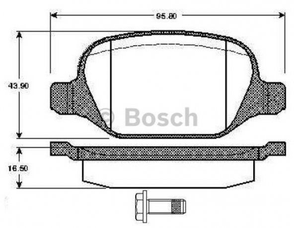 Fiat Linea 1.4 T 2007-2012 Bosch Arka Balata