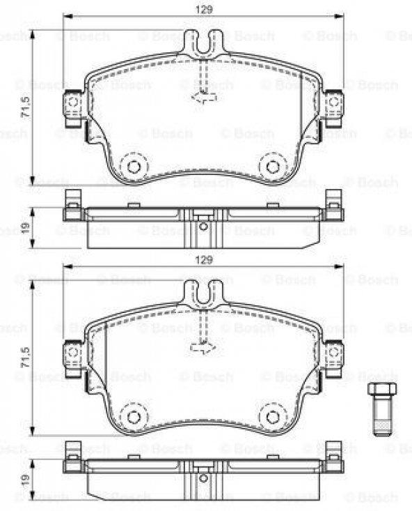 Mercedes A180CDI 176 1.5 2012-2019 Bosch Ön Fren Balatası